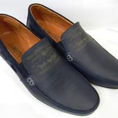 """Распродажа ! Levi""""s model (№91) синие ! Кожаные мужские мокасины !!!"""