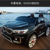 Детский электромобиль джип BMW X8 черный