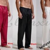 Атласные пижамные штаны мужские и женские. 10 цветов в наличии