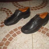 Туфлі Camas шкіряні 39 розмір 24,5 см на шнурівках Італія