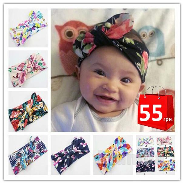 Широкие повязки для волос с проволкой, подходят от года , стильные и модные повязки для мамы и дочки фото №1