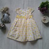 1-1/5 года Нарядное платье в горошек Mothercare