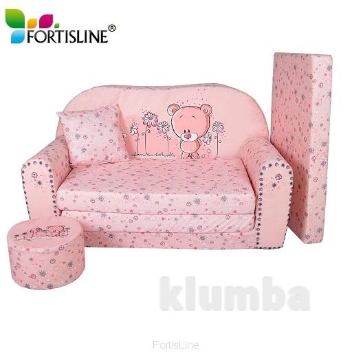 Бескаркасный диван для маленькой принцессы, немецкой фирмы fortisline фото №1