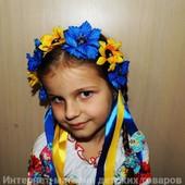 """Веночек с маленькими цветками и лентами """"Украиночка"""""""