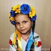 """Веночек с большими цветками и лентами""""Красуня"""""""