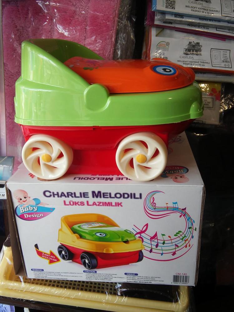 Детский горшок музыкальный с крышкой машинка cm 140, горшок для детей фото №1