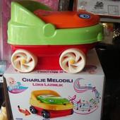 Детский горшок музыкальный с крышкой машинка