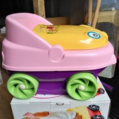 Детский горшок музыкальный с крышкой машинка CM 140, горшок для детей