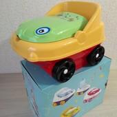 Детский горшок музыкальный с крышкой машинка CM 140, горшок для детей, Турция