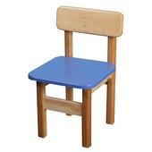Детский Стульчик деревянный синий. F26