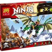 конструктор Леле Нинзя 79345 Lele Ninja Зеленый дракон нинзяго Ninjago
