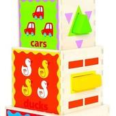 Пирамида-кубики, Hape Артикул: E0413