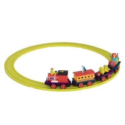 Battat игровой набор с железной дорогой баттатоэкспресс свет звук водяной пар 4 вагончика фото №1