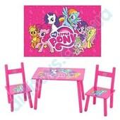 Комплект детской мебели М 1522 «Розовый Пони», столик и два стульчика