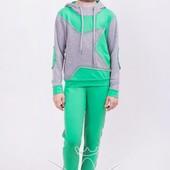 Костюм для девочки Звезда (зеленый, мята, розовый-неон и синий)