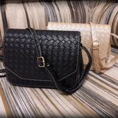 Миниатюрная сумочка клатч под плетеную кожу
