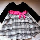 Фирменное нарядное платье на 1,5-2 года, одевали до 3,5 лет