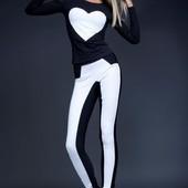 Черно-белый костюм
