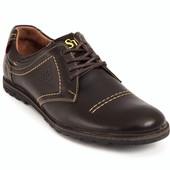 Кожанные мужские туфли Bastion 120. Цвета - черный, синий, коричневый.