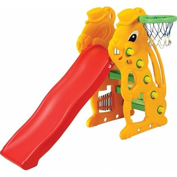 Детская игровая горка Зайчик 137 см (sl-07)  фото №1