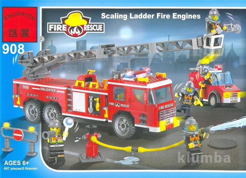Конструктор 908 пожарные спасатели, 908 брик brick , 607 деталь фото №1
