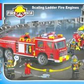 Конструктор 908 Пожарные спасатели, 908 брик Brick , 607 деталь