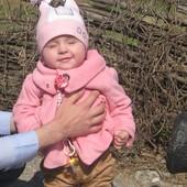 Розовое пальто для маленькой леди 6-12 мес