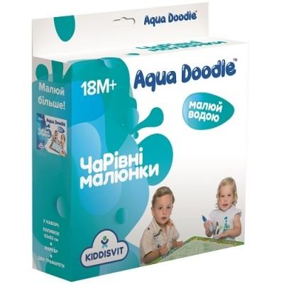 Aqua doodle набор для творчества волшебные водные рисунки рисование водой коврик маркер трафарет  фото №1