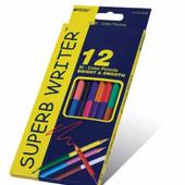 Карандаши цветные Marco Superb Write двухсторонние 24 цвета 4110-12CB