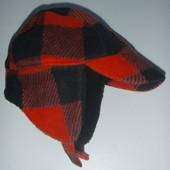 шапка-ушанка с козырьком на 2-5 лет