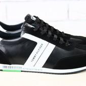Кроссовки Tommy Hilfiger, черные, р. 40-45, код: nvk-2064