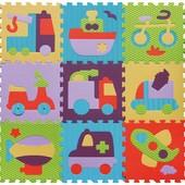 Детский игровой коврик-пазл «Быстрый транспорт»