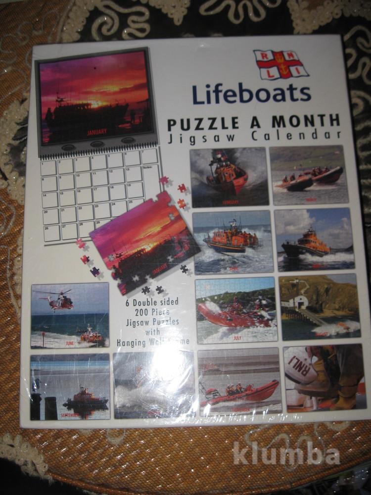"""Новый пазл календарь """"lifeboat"""" 12 по 200 пазлов. фото №1"""