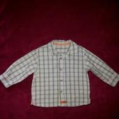 Рубашка Mothercare 9-12 мес, рост 80 см.
