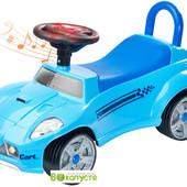 Машинка-каталка детская + звук работающего двигателя и мигалки, Caretero Cart - blue