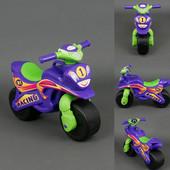 Байк Спорт Мотоцикл Doloni фиолетово-салатовый 0138/60 Долони беговел каталка