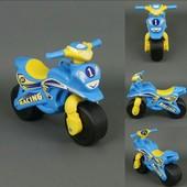 Байк Спорт Мотоцикл Фламинго голубо-желтый 0138/10 беговел