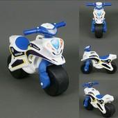 Байк Полиция Мотоцикл Фламинго бело-синий 0139/510 беговел