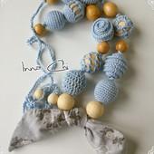 Слингобусы с текстильным бантиком Джинс