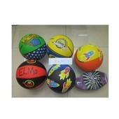 Мяч баскетбольный цветной в ассортименте. артикул E02904