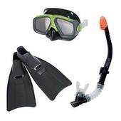 Набор для плавания Intex - маска, ласты, трубка. артикул 55959