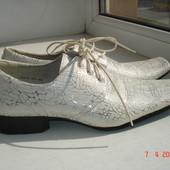 Туфли оригинальные натуральная кожа 40/26 см.
