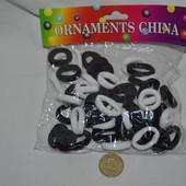 Резинки для волос 50 штук резинка набор резинок резиночки черно - белые