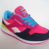Скидка! Распродажа! Стильные кроссовки для девочки, р. 34 - 21 см, код 150