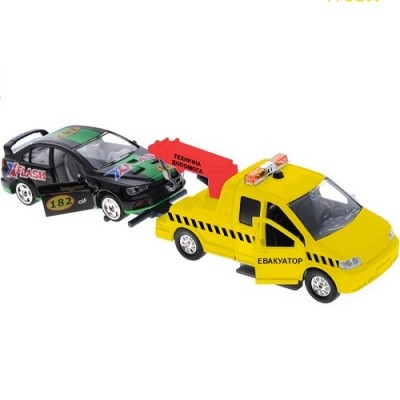Technopark технопарк игровой набор эвакуатор с машиной свет, звук фото №1