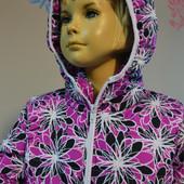 Куртка цветочный  принт для девочки