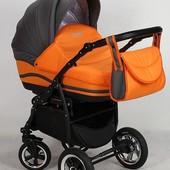 +видео! Универсальная коляска Anmar Zico 16 цвет Апельсиновый