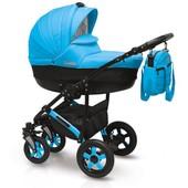 +видео! Универсальная коляска Camarelo Sevilla SE-16 цвет Голубой