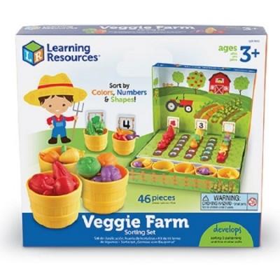 Learning resources обучающий игровой набор сортер умный фермер овощи математический счет фото №1