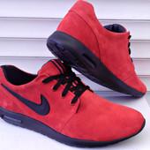 Кроссовки Nike красный замш